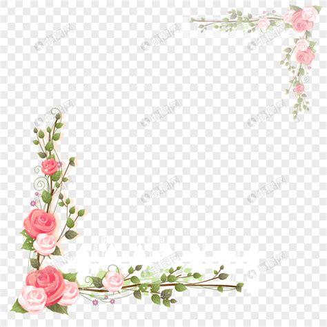 bingkai bunga mawar merah muda gambar  gratis grafik