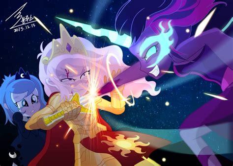 mlp princess celestia mlp celestia vs twilight sparkle by 0bluse on deviantart