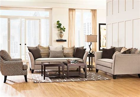 sofia vergara sofa rooms to go shop for a sofia vergara santorini 7 pc living room at