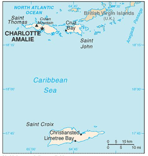 us islands map and us islands satellite images