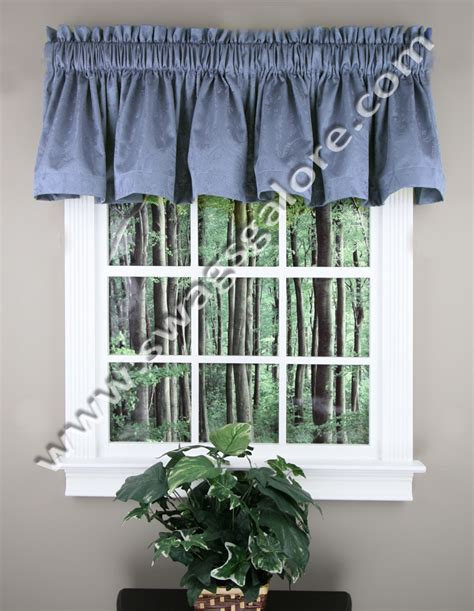 Swags Galore Valances Gabrielle 56 X 17 Valance Blue Stylemaster Kitchen Valances