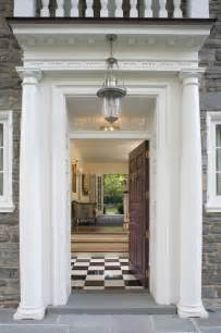 Where Do Interior Decorators Shop Front Door Portico Traditional Entry Philadelphia