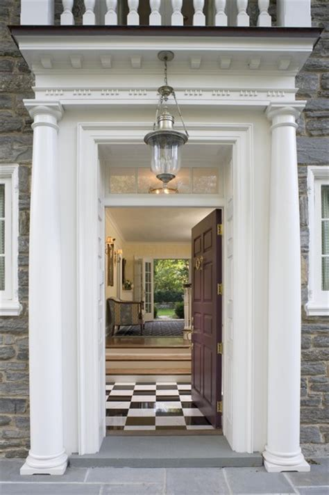 front entry front door portico traditional entry philadelphia