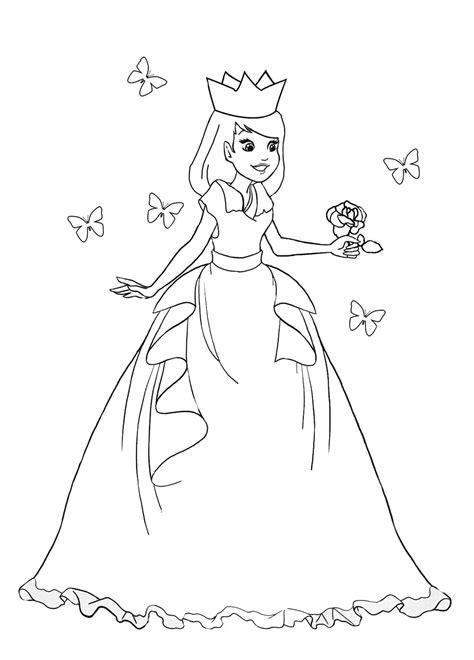 rose bush coloring page princess coloring pages