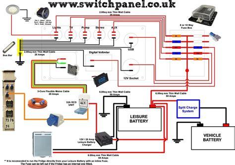 camper wiring diagram  interior pinterest