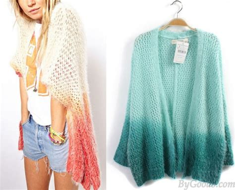 Gradient Cardigan vintage gradient color knit cardigan sweaters