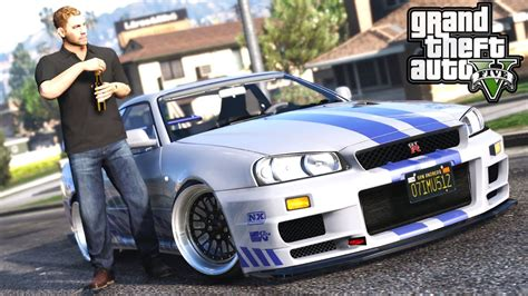 nissan r34 paul walker gta 5 paul walker mod drift nissan r34 gtr