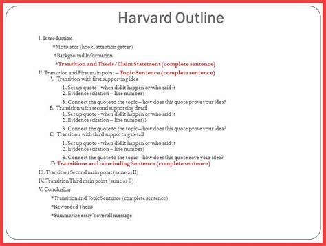 Harvard Outline Format Word Memo Exle Harvard Note Taking Template