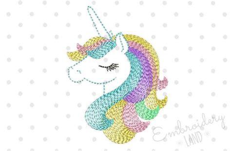 Decorative Stitch Beautiful Unicorn Machine Embroidery Design By