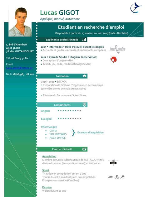 Exemple Cv Professionnel by Cv Professionnel Mod 232 Le De Cv Professionnel Gratuit Word