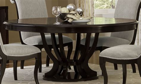 expresso dining table savion espresso pedestal extendable dining table