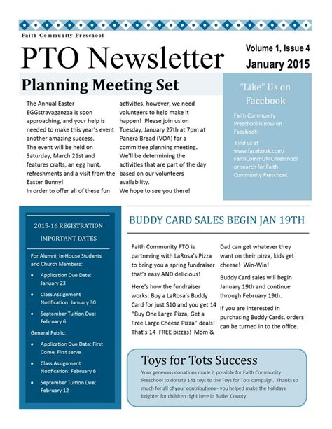pto newsletter templates free printable pto newsletter templates free free template design