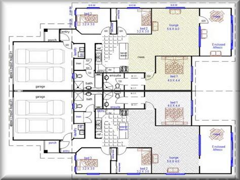 floor plan for duplex house bloombety duplex floor plans duplex floor plans design