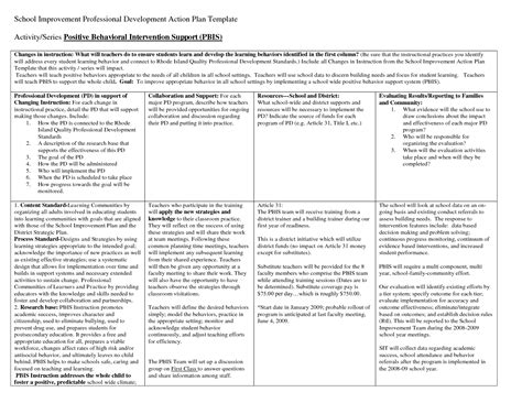 district professional development plan template professional development plan template www imgkid