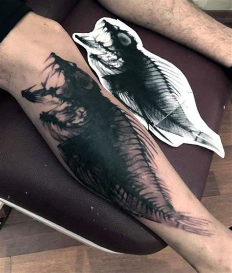 exotic tattoos for men 70 bone designs for skeletal ink ideas