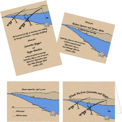 fish wedding invitations partners for fishing wedding invitations wedding