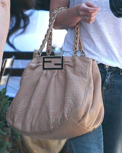 Hilary Duffs Michael Kors Bag by Hilary Duff Leather Shoulder Bag Hilary Duff Handbags