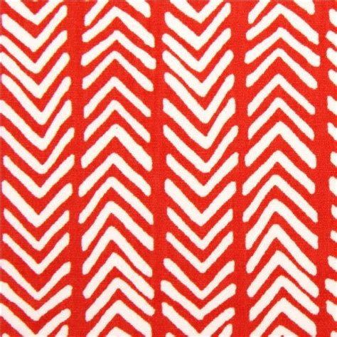 Ballard Designs Lamp Shades red herringbone pattern organic fabric by monaluna usa