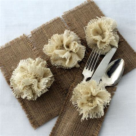 silverware holder for table 17 best ideas about burlap silverware holder on