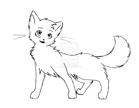cat drawing template she cat outline 1 by leftysmudgez on deviantart