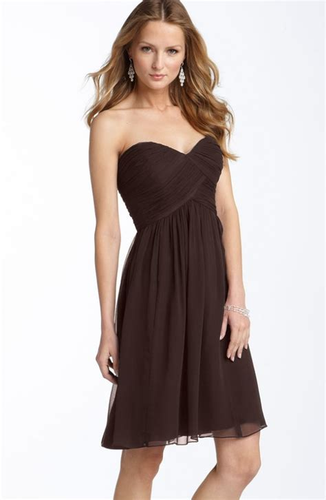Brown Dress ask maggie brown bridesmaids dresses for a country