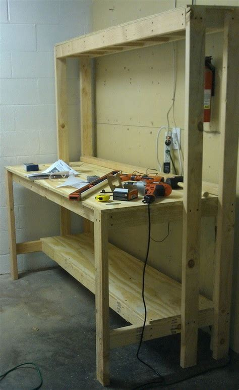 how to build a garage bench how to build a workbench for your garage to get organized
