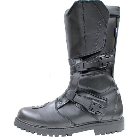 black motorcycle boots richa adventure off road mx road cross sport leather