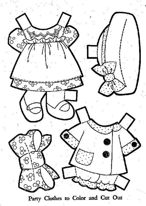 Paper Doll Clothes Coloring Pages by Paper Dolls Coloring Pages Baby Doll Clothes Colouring