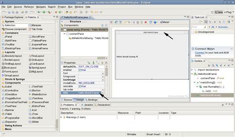 tutorial java windowbuilder jcafe info windowbuilder pro hello world java swing