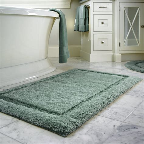 72 Inch Bath Rug Resort Cotton Bath Rug Antique Blue 30 Quot X 72 Quot Contemporary Bath Mats By Frontgate