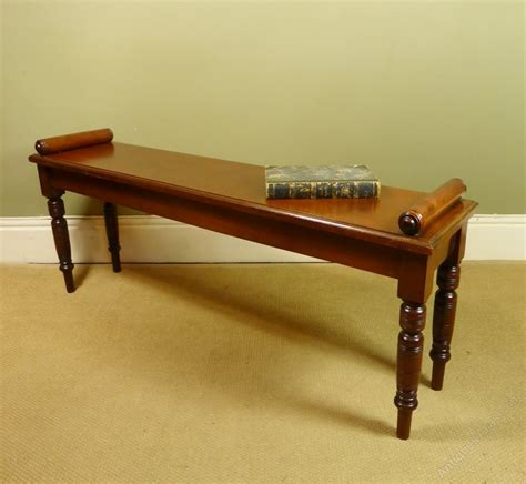 antique hall bench 19th c walnut hall bench antiques atlas