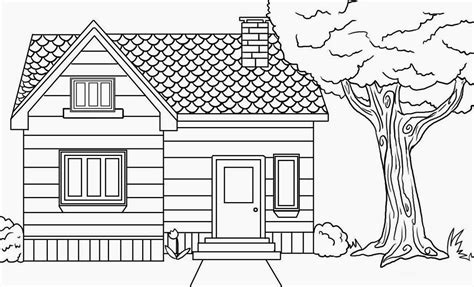 drawing a house house drawing color sketch coloring page