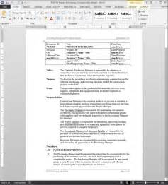 Purchasing Manual Template by Project Purchasing Procedure
