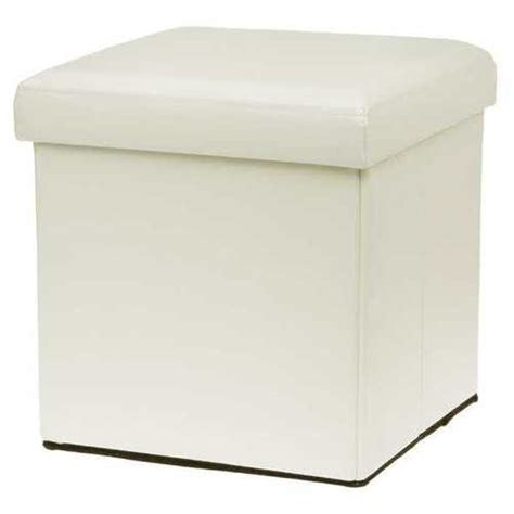 leather ottoman storage box cream colour leather fold flat ottoman storage box