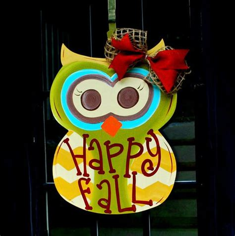 fall owl decorations owl door decorations owl door and fall owl on