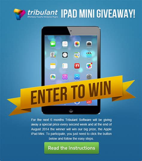 Software Giveaway - ipad mini giveaway contest tribulant software blog