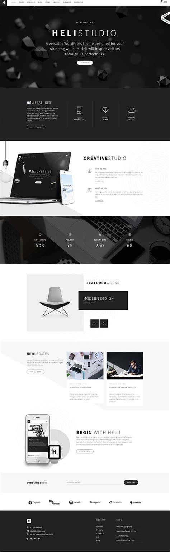 wordpress themes design inspiration heli creative multi purpose wordpress theme wordpress