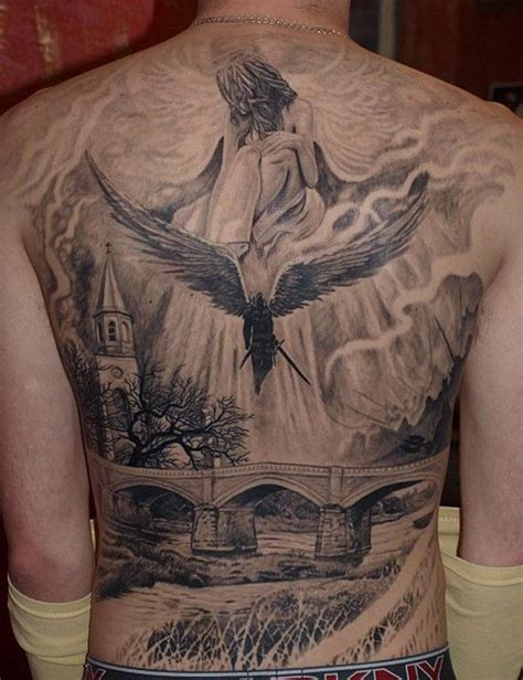 awesome back tattoos for men cool tattoos for on back www pixshark images
