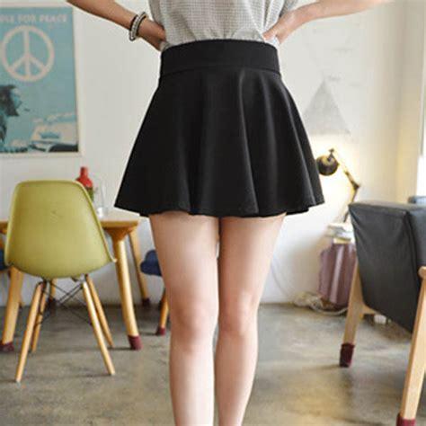 Rok Mini Bayi rok mini wanita high waist skirt all size black