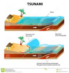 Outline The Causes Of Earthquakes Scheme by Tsunami And Earthquake Vector Illustration Stock Photo Image 36125580