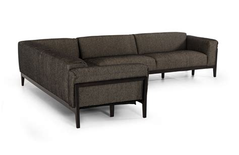 casa divani divani casa tifton brown b631 fabric sectional sofa by vig