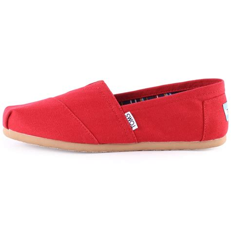 toms 1b07 canvas slip on womens shoes