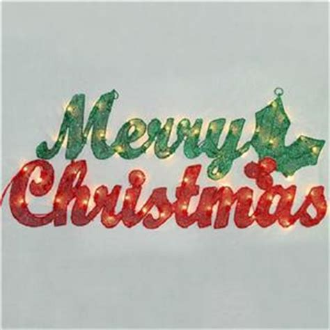 3 foot lighted pre lit merry christmas sign display