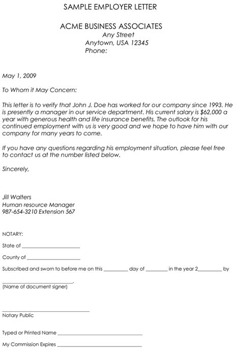 Employment Verification Letter 8 Sles To Choose From Proof Of Employment Letter Template Word