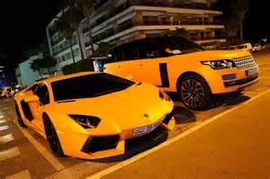 Range Rover Lamborghini Part 1 Epic Orange Duo Lamborghini Aventador Range