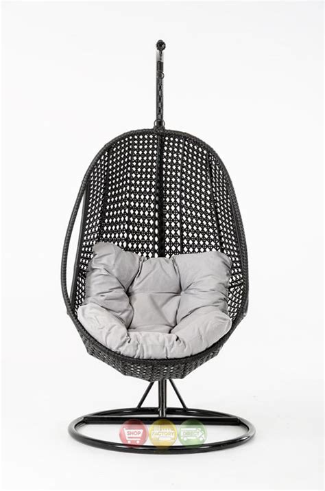 Outdoor Pod Chair by Oahu Outdoor Hanging Pod Chair Black Rattan Shop Factory