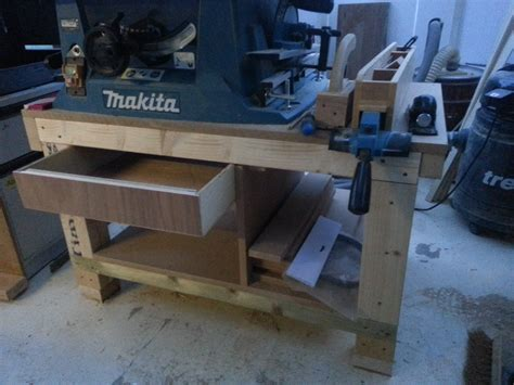 build a table saw bench how to build a cheap table saw stand from scrap pt1 youtube