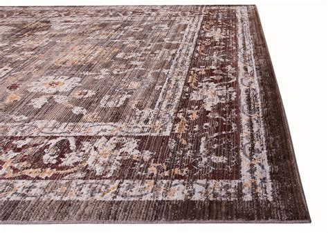 7x10 Area Rug Brown Distressed Bordered 7x10 Area Rug Traditional Carpet 6 6 Quot X 9 2 Quot Ebay