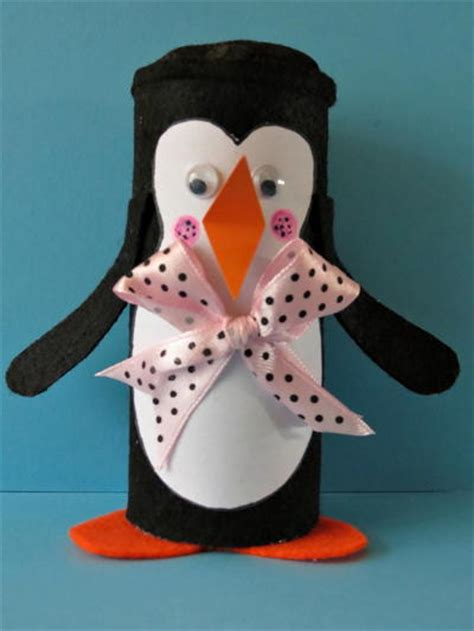 Winter Paper Crafts - winter penguin toilet paper roll craft favecrafts
