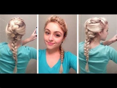 frozen elsa hair tutorial disney s braid hairstyles for wedding elsa hair tutorial from disney s quot frozen quot youtube